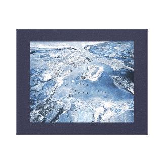 南方の頭上式の眺めの真珠湾 キャンバスプリント
