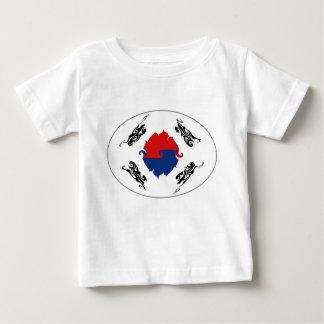 南朝鮮のすごい旗のTシャツ ベビーTシャツ