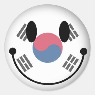 南朝鮮のスマイリー ラウンドシール