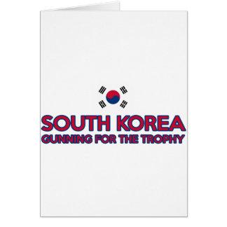 南朝鮮のデザイン カード