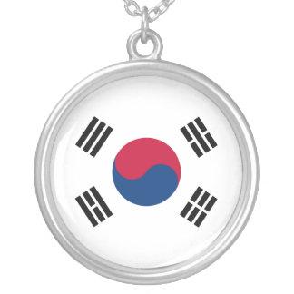 南朝鮮のネックレスの旗 シルバープレートネックレス