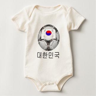 南朝鮮のフットボール-대한민국 ベビーボディスーツ