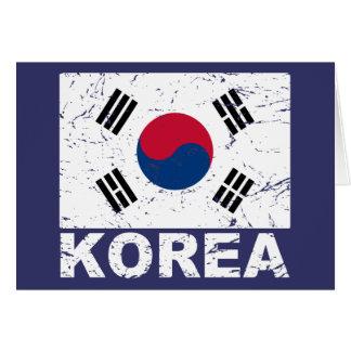 南朝鮮のヴィンテージの旗 カード