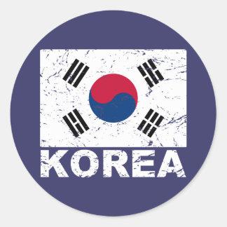南朝鮮のヴィンテージの旗 ラウンドシール