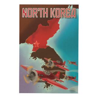南朝鮮のヴィンテージ旅行ポスター ウッドウォールアート