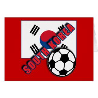 南朝鮮の世界のサッカーファンのTシャツ カード
