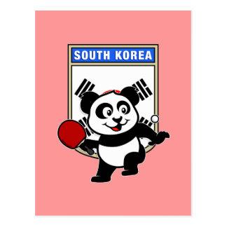 南朝鮮の卓球のパンダ ポストカード