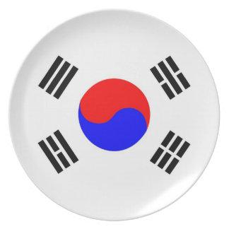 南朝鮮の国旗のプレート プレート