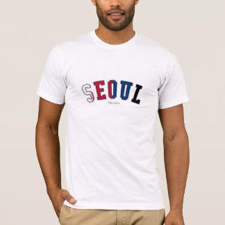 南朝鮮の国旗色のソウル Tシャツ