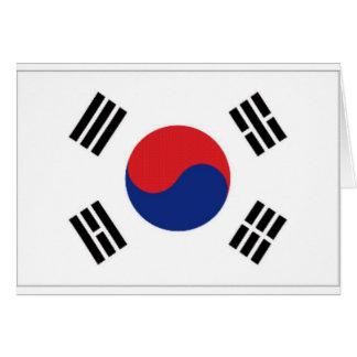 南朝鮮の国旗 カード