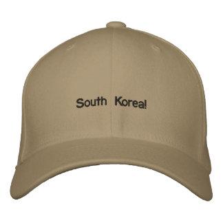 南朝鮮の帽子! 刺繍入りキャップ
