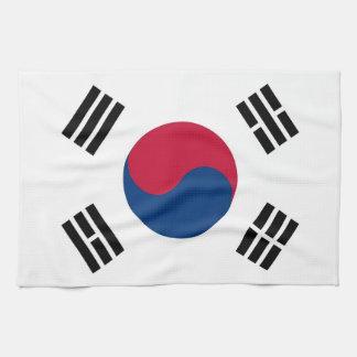 南朝鮮の旗が付いている台所タオル キッチンタオル