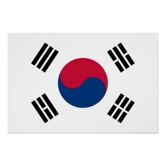 南朝鮮の旗が付いている愛国心が強いポスター ポスター