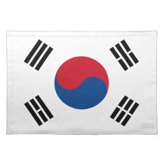 南朝鮮の旗のアメリカ人のMoJoのランチョンマット ランチョンマット
