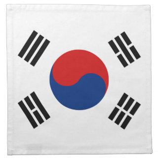 南朝鮮の旗のナプキン ナプキンクロス