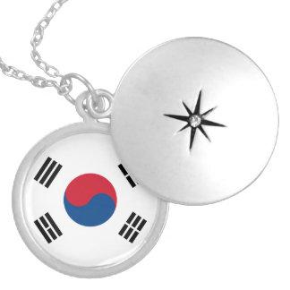 南朝鮮の旗のネックレス ロケットネックレス