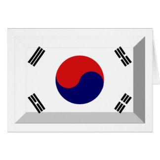 南朝鮮の旗の宝石 カード