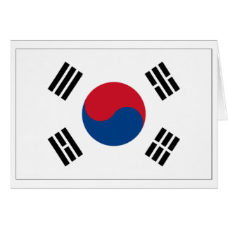 南朝鮮の旗プロダクト カード
