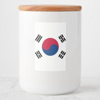 南朝鮮の旗 フードラベル