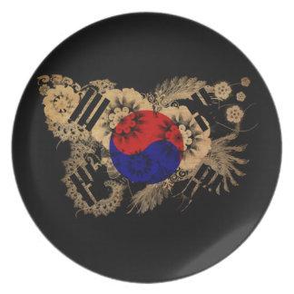 南朝鮮の旗 プレート