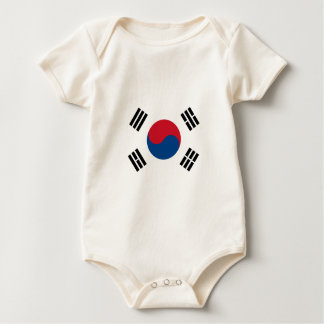 南朝鮮の旗 ベビーボディスーツ