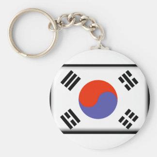 南朝鮮の旗 ベーシック丸型缶キーホルダー