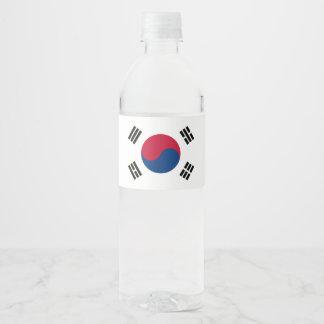 南朝鮮の旗 ペットボトルラベル