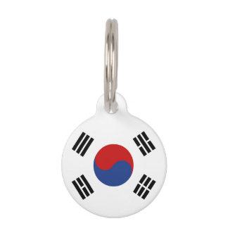 南朝鮮の旗 ペット ネームタグ