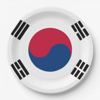 南朝鮮の旗 ペーパープレート