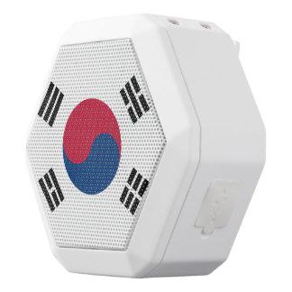 南朝鮮の旗 ホワイトBluetoothスピーカー