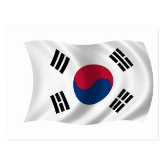 南朝鮮の旗 ポストカード