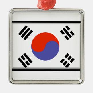 南朝鮮の旗 メタルオーナメント