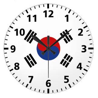 南朝鮮の旗 ラージ壁時計