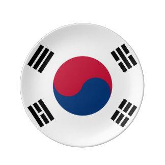 南朝鮮の旗 磁器プレート