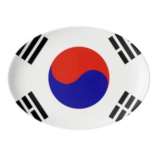 南朝鮮の旗 磁器大皿