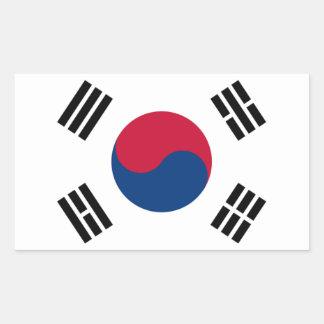 南朝鮮の旗 長方形シール