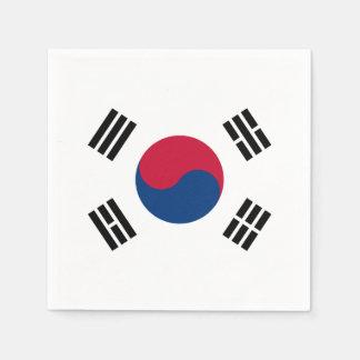 南朝鮮の紙ナプキンの旗 スタンダードカクテルナプキン