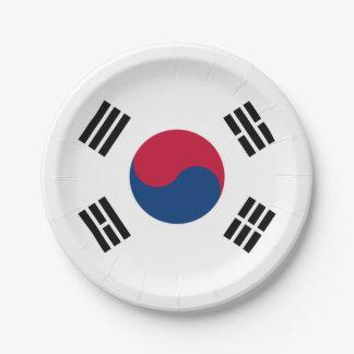 南朝鮮の紙皿の旗 ペーパープレート