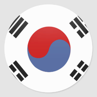 南朝鮮の質の旗の円 ラウンドシール