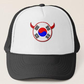 南朝鮮の赤い悪魔のサッカーの帽子 キャップ