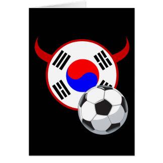 南朝鮮の赤い悪魔のサッカーの挨拶状 カード