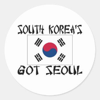 南朝鮮はソウルを得ました ラウンドシール