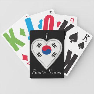 南朝鮮韓国人の旗 バイスクルトランプ