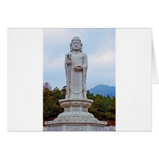南朝鮮、アジアの仏の彫像 カード