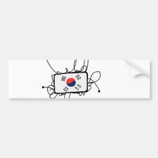南朝鮮 バンパーステッカー