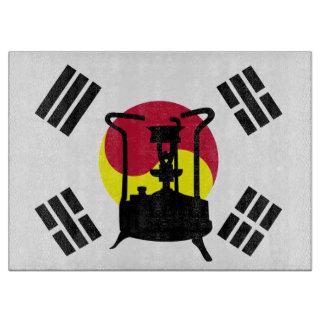 南朝鮮 圧力ストーブの旗 カッティングボード