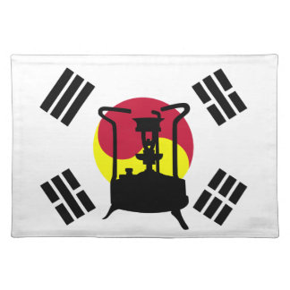 南朝鮮|圧力ストーブの旗 ランチョンマット