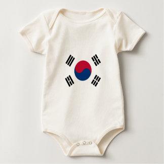 南朝鮮-태극기-の旗대한민국의국기 ベビーボディスーツ