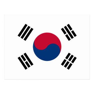 南朝鮮-태극기-の旗대한민국의국기 ポストカード