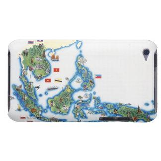 南東アジアの地図 Case-Mate iPod TOUCH ケース